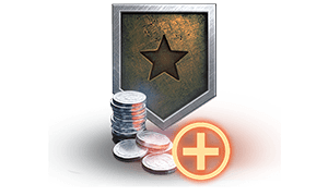 In a Platoon, World of Tanks Premium Account holders receive a 15% credit bonus. Also, Platoon members who are not holders receive a 10% bonus.