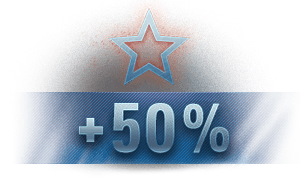 50% more experience per battle