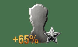 65% more commander experience per battle