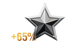 65% more experience per battle