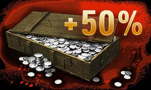 50% more credits per battle